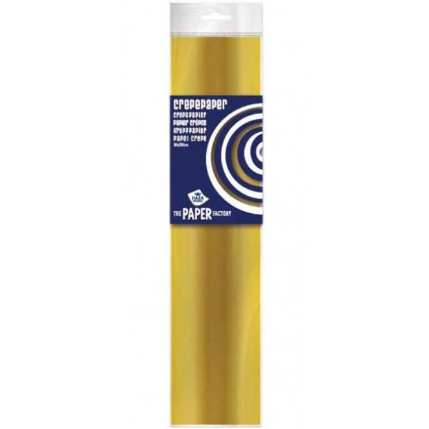 Crepe papier plat goud 250 x 50 cm - Knutselen met papier - Knutselspullen