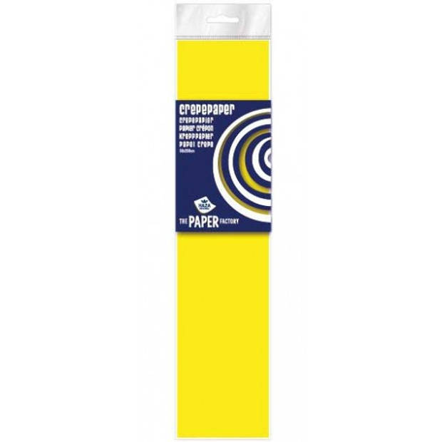 Crepe papier plat neon geel 250 x 50 cm - Knutselen met papier - Knutselspullen