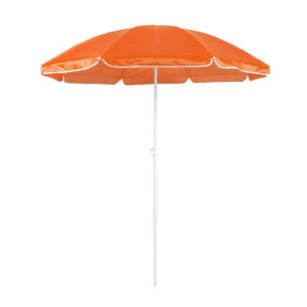 Verstelbare strand/tuin parasol oranje 150 cm - Zonbescherming - Voordelige parasols