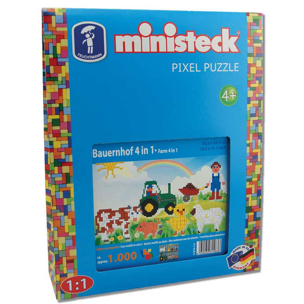 Ministeck 4-in-1 boerderij - 1000 stukjes