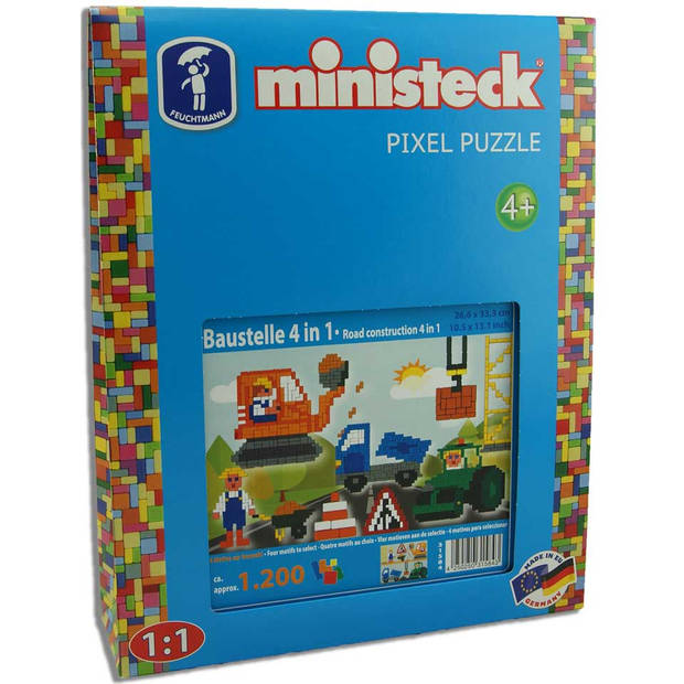 Ministeck 4-in-1 bouwplaats - 1200 stukjes