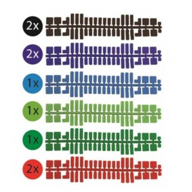 Ministeck Set 1 - 9 Kleurstrips