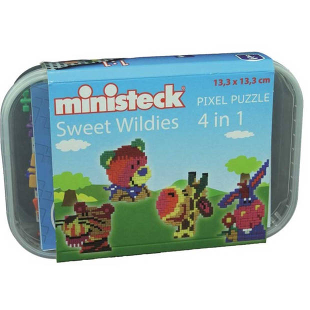 Ministeck 4-in-1 wilde dieren - 510 stukjes