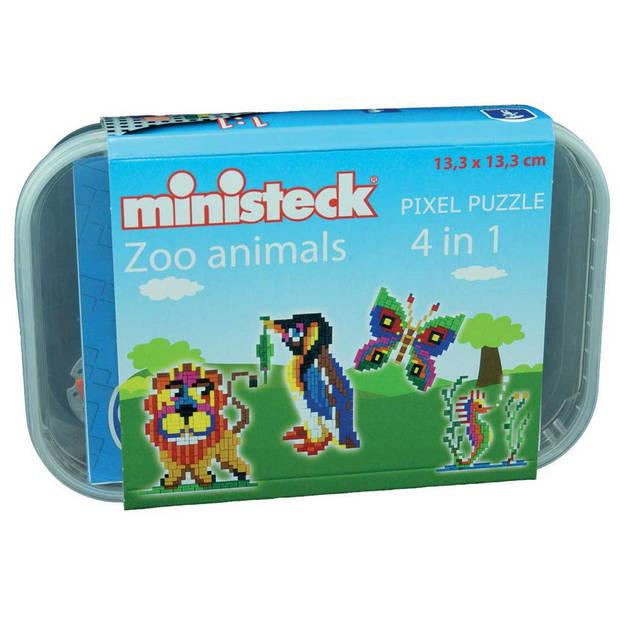 Ministeck 4-in-1 dierentuin - 510 stukjes