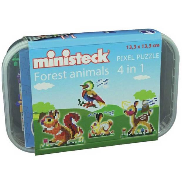 Ministeck 4-in-1 bosdieren - 510 stukjes