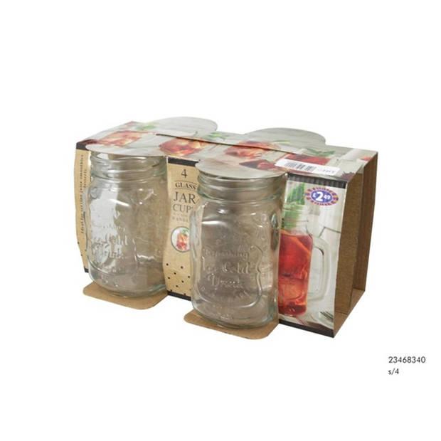 Beker glas ice cold drink set a 4 drinkglazen
