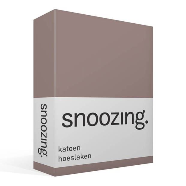 Snoozing - Katoen - Hoeslaken - 90x210 - Taupe
