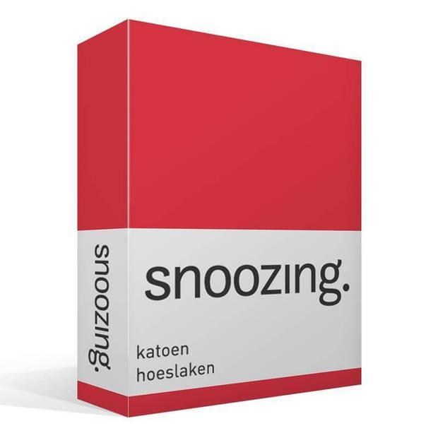 Snoozing - Katoen - Hoeslaken - 70x200 - Rood