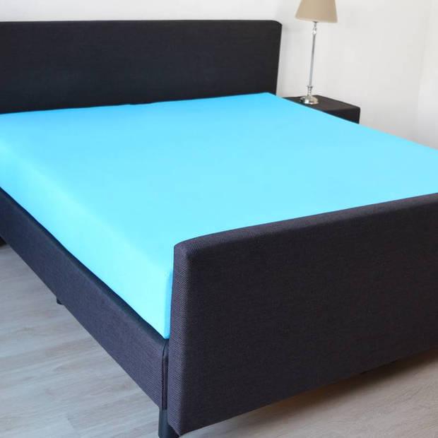 Snoozing - Katoen - Hoeslaken - 160x200 - Turquoise