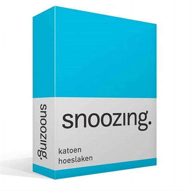 Snoozing - Katoen - Hoeslaken - 100x200 - Turquoise