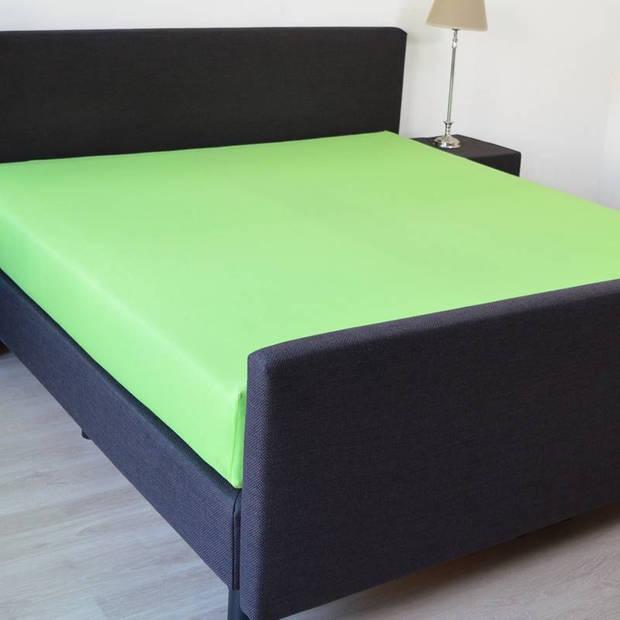 Snoozing - Katoen - Hoeslaken - 120x220 - Lime