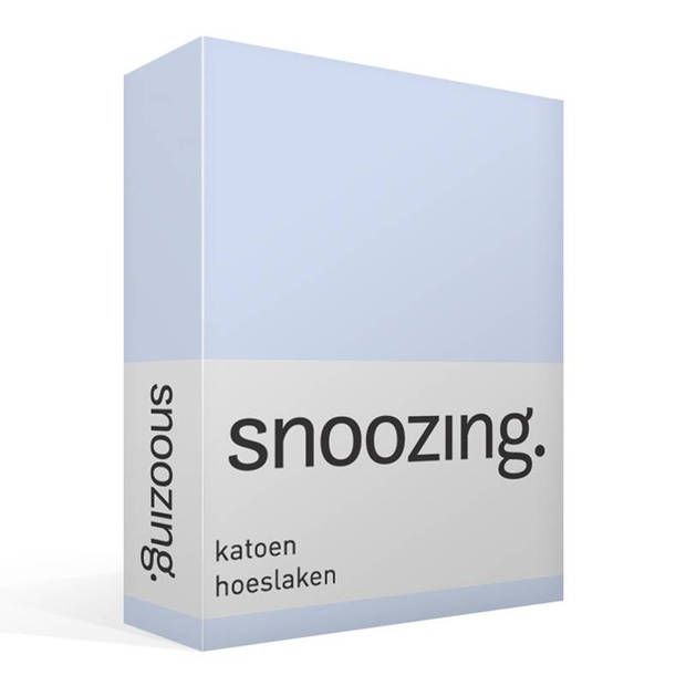 Snoozing - Katoen - Hoeslaken - 150x200 - Hemel