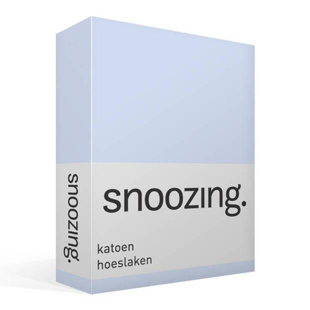 Snoozing - Katoen - Hoeslaken - 140x220 - Hemel