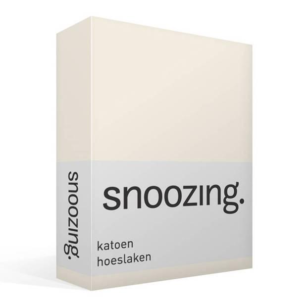 Snoozing - Katoen - Hoeslaken - 160x200 - Ivoor
