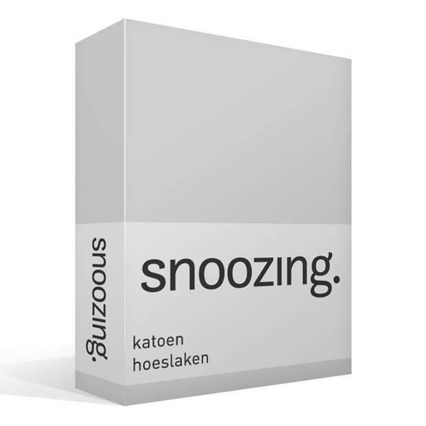 Snoozing - Katoen - Hoeslaken - 70x200 - Grijs