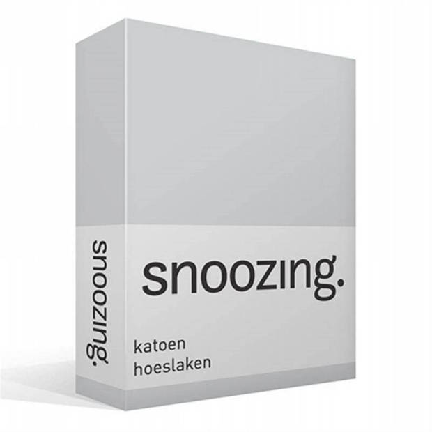 Snoozing - Katoen - Hoeslaken - 200x200 - Grijs