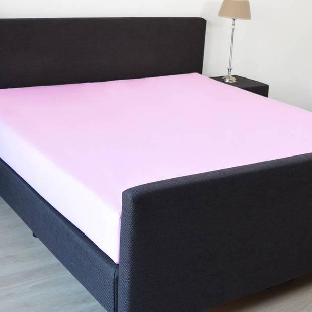 Snoozing - Katoen - Extra Hoog - Hoeslaken - 90x210 - Roze