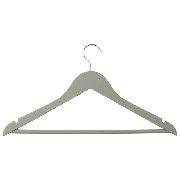Blokker kledinghangers - hout - grijs - 2 stuks
