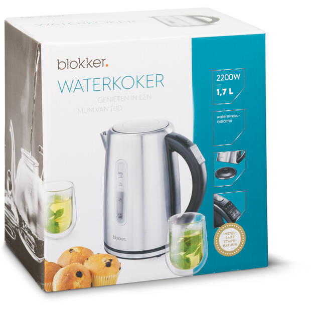 Blokker waterkoker digitaal BL-10301 - 1,7 liter