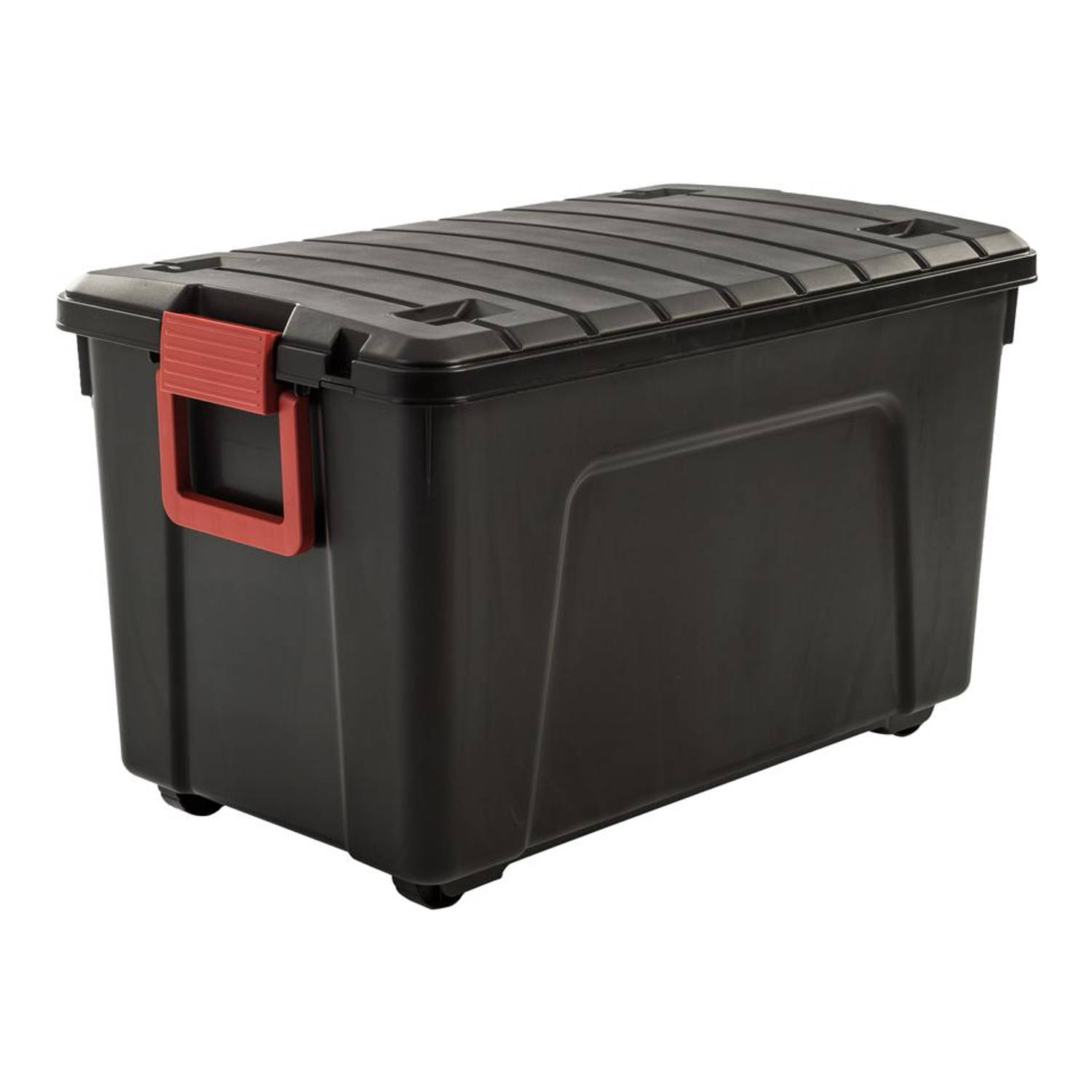 Iris Store It All opbergbox - 75 liter - zwart rood