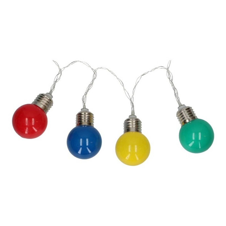 Gekleurde feestverlichting snoer op batterij - 165 cm - LED lichtsnoer