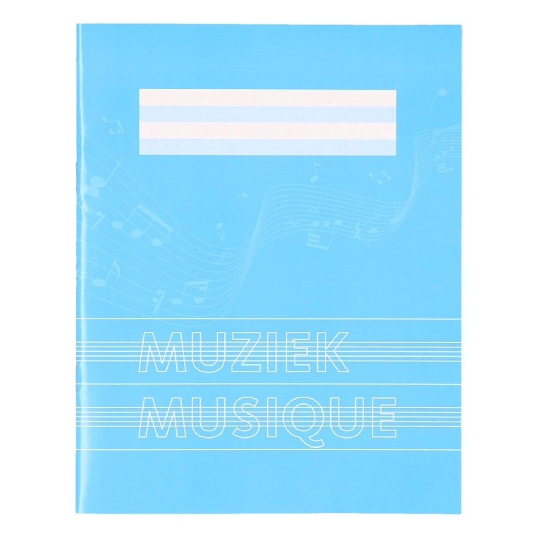 Korting 1x Stuks A5 Schriften Schoolschrift Blauw Met Muzieknoten 18 Bladzijden 23 Lijns