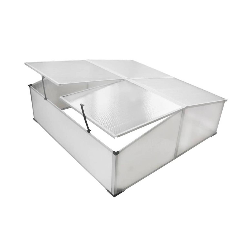 Vidaxl Koude Bak Met 4 Deksels 108x110x41 Cm
