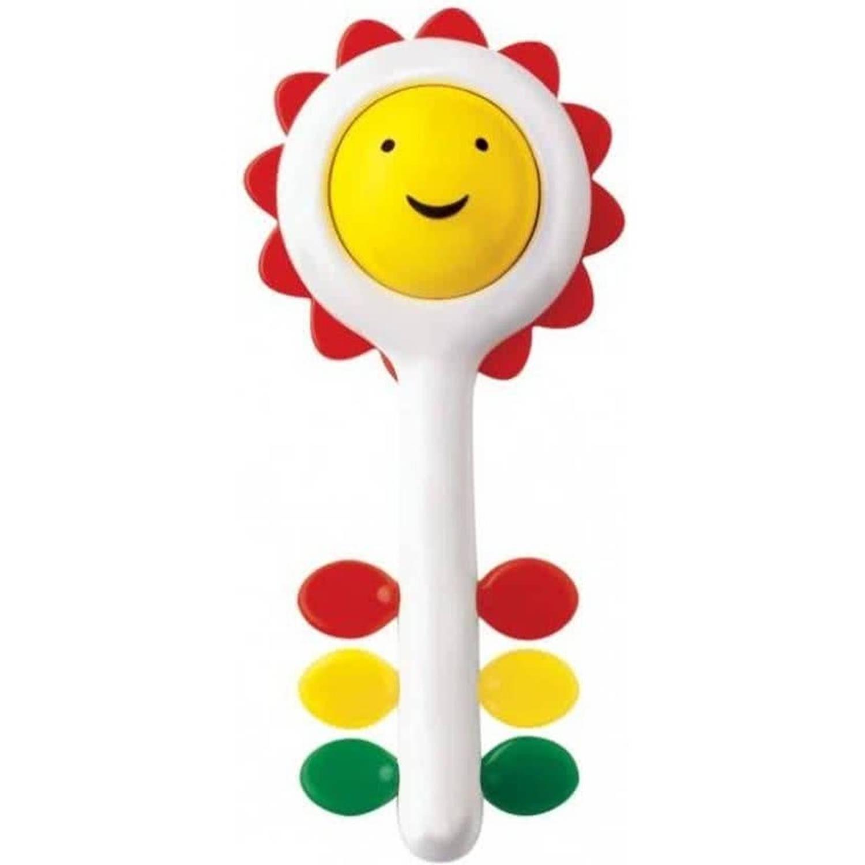 Afbeelding van Ambi Toys rammelaar zonnebloem 18 cm wit