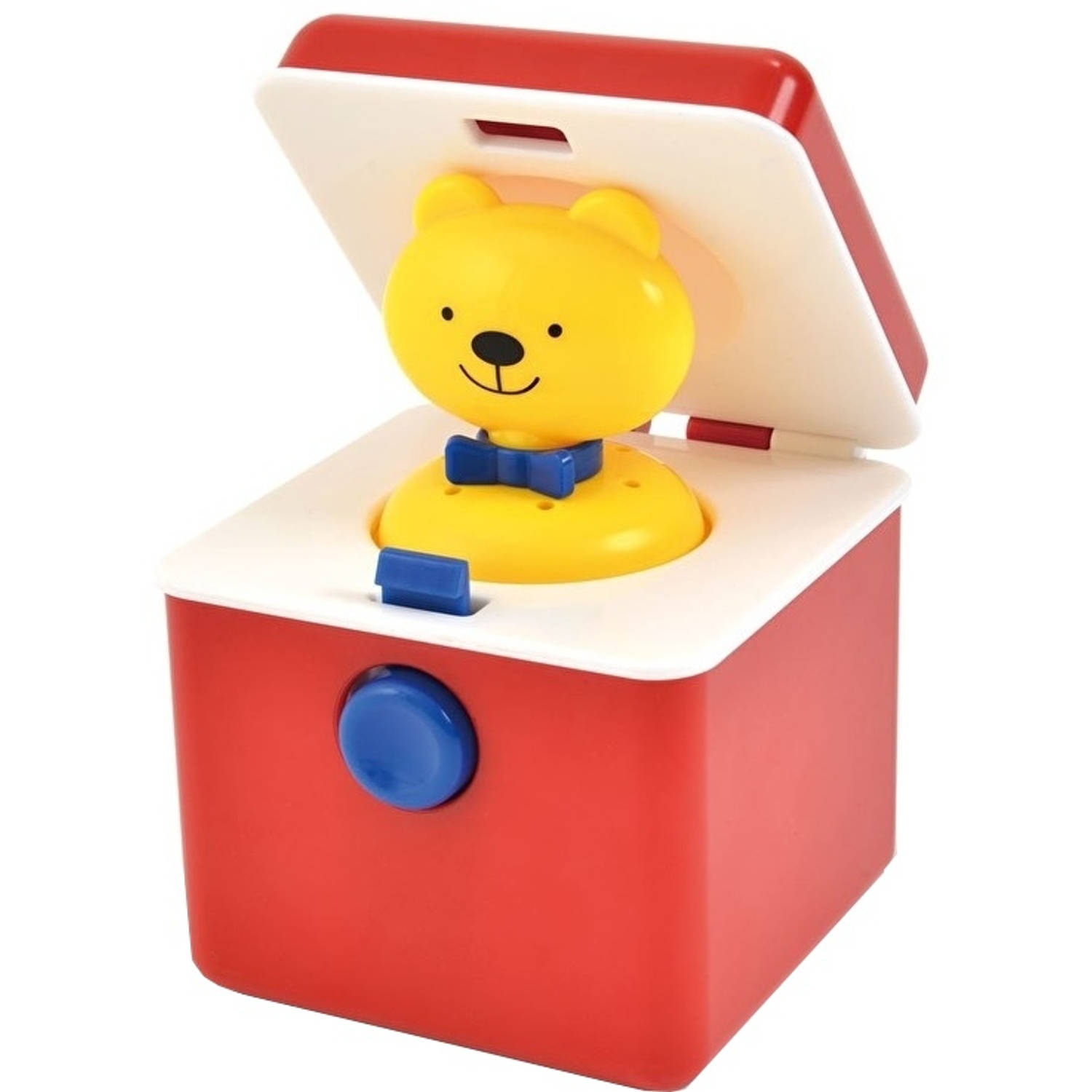 Afbeelding van Ambi Toys Ted-in-a-box 9,5 cm rood