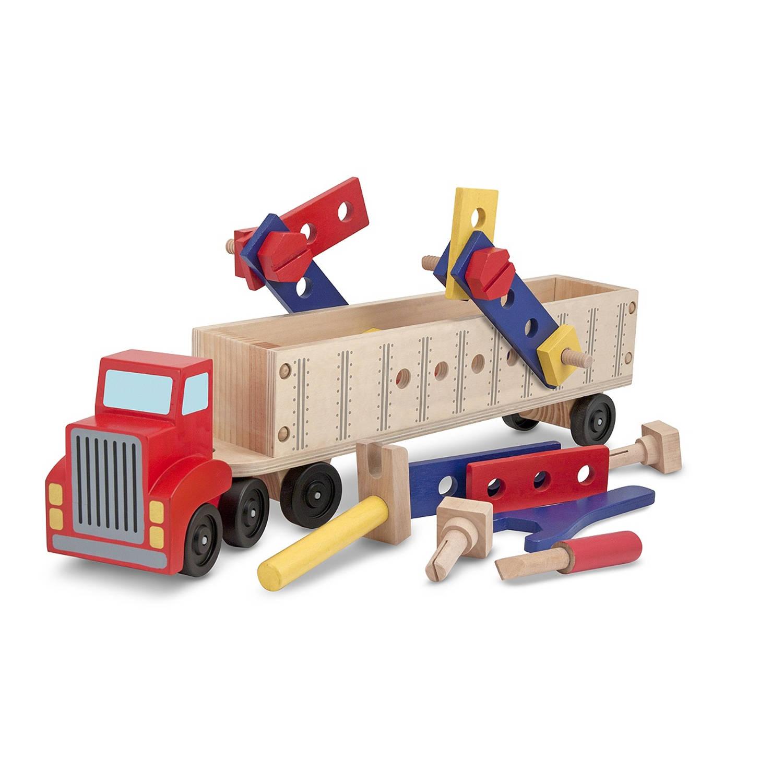 Melissa & Doug vrachtwagen met oplegger