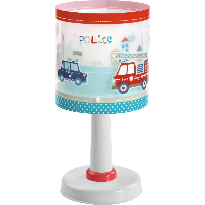 Dalber tafellamp Police glow in the dark 30 cm rood/wit/blauw