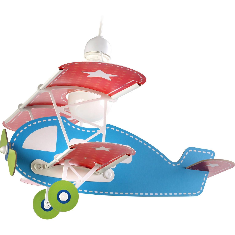 Dalber hanglamp Baby Plane 64 cm blauw/rood