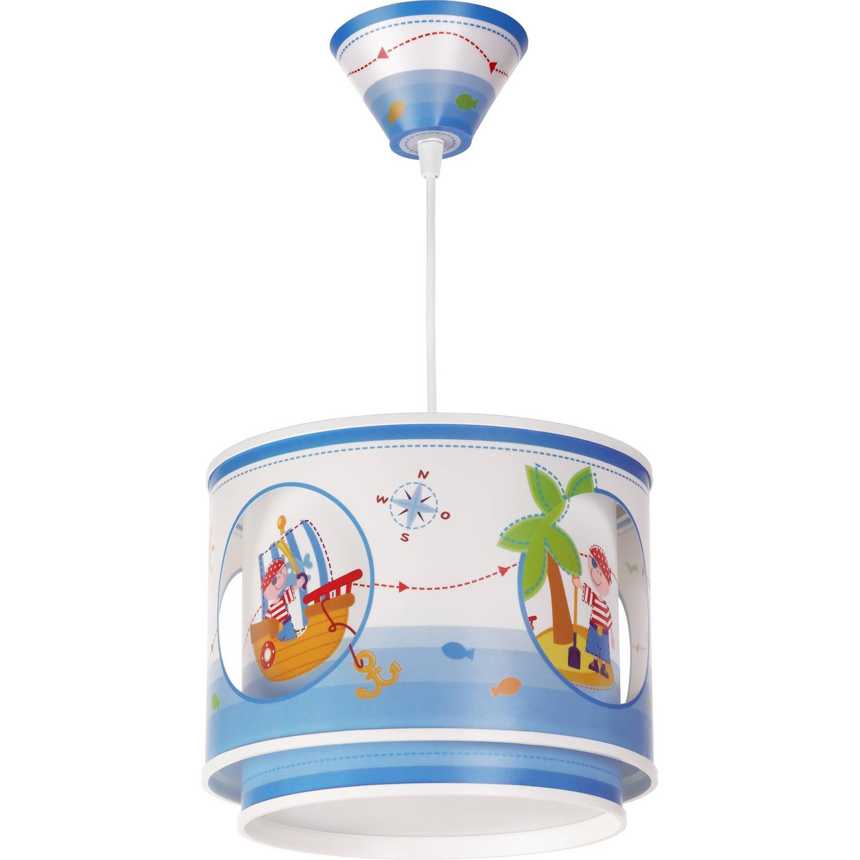 Dalber hanglamp Pirate 26,5 cm blauw/wit