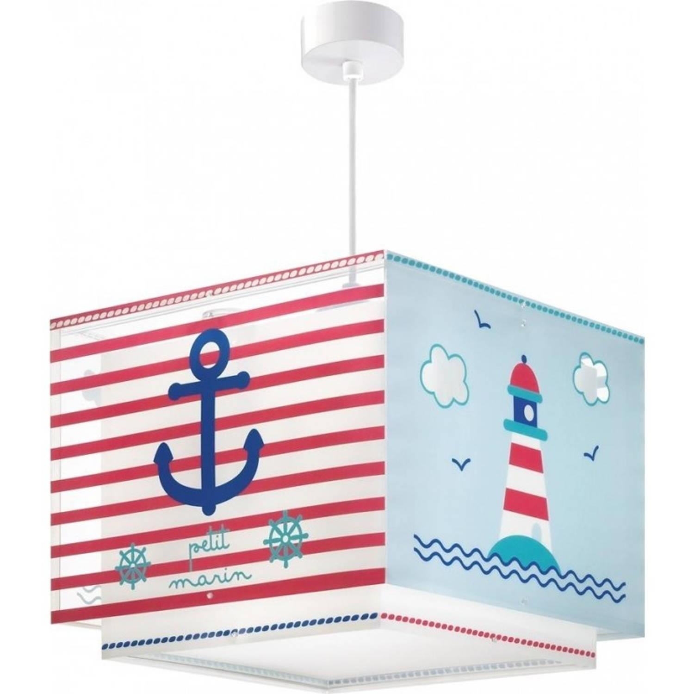 Dalber hanglamp Shade Petit Marin 25 cm rood/blauw