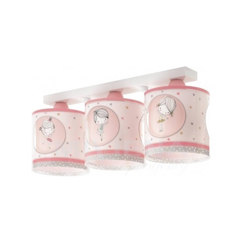 Dalber plafondlamp 3-lamps Sweet Dance 51 cm roze