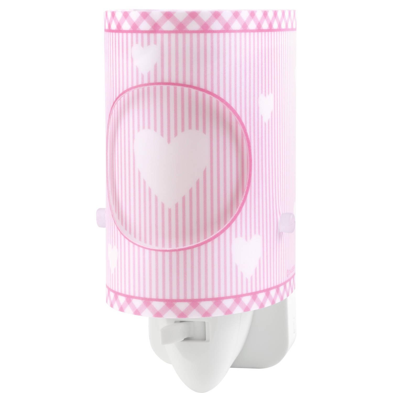 Dalber nachtlamp Sweet Dreams 13 cm roze
