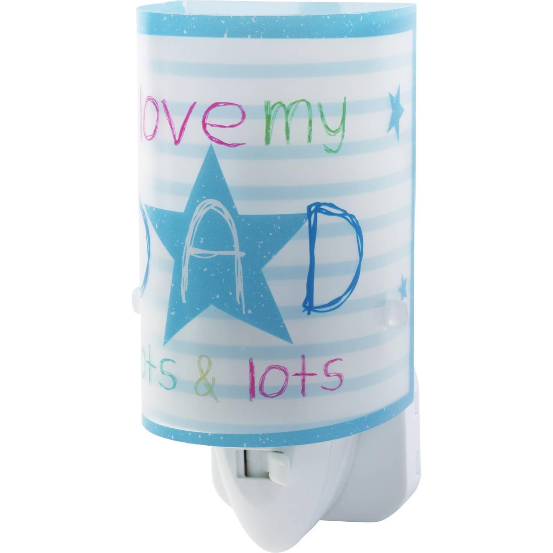 Dalber nachtlamp Dad 13 cm blauw