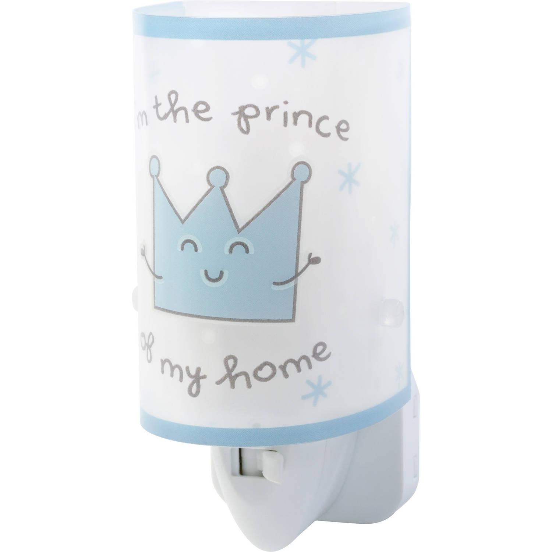 Dalber nachtlamp Prince glow in the dark 13 cm blauw