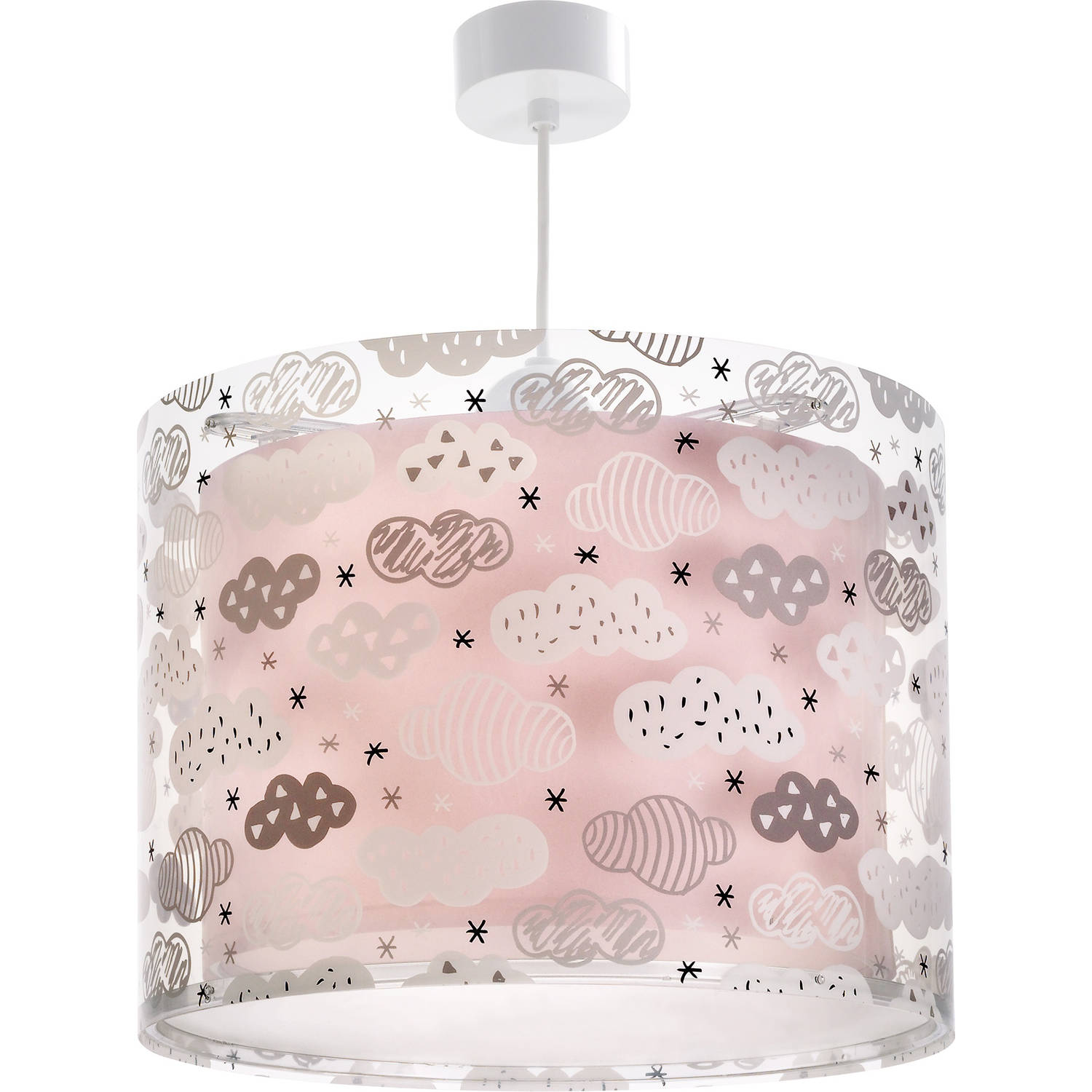 Dalber hanglamp Clouds 33 cm roze