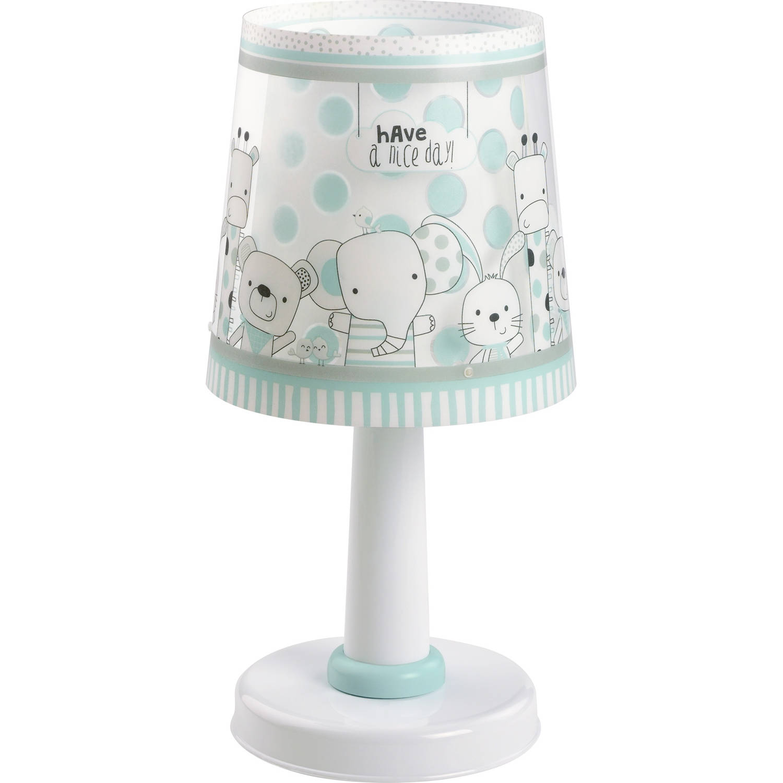 Dalber tafellamp Friends 30 cm wit/turquoise
