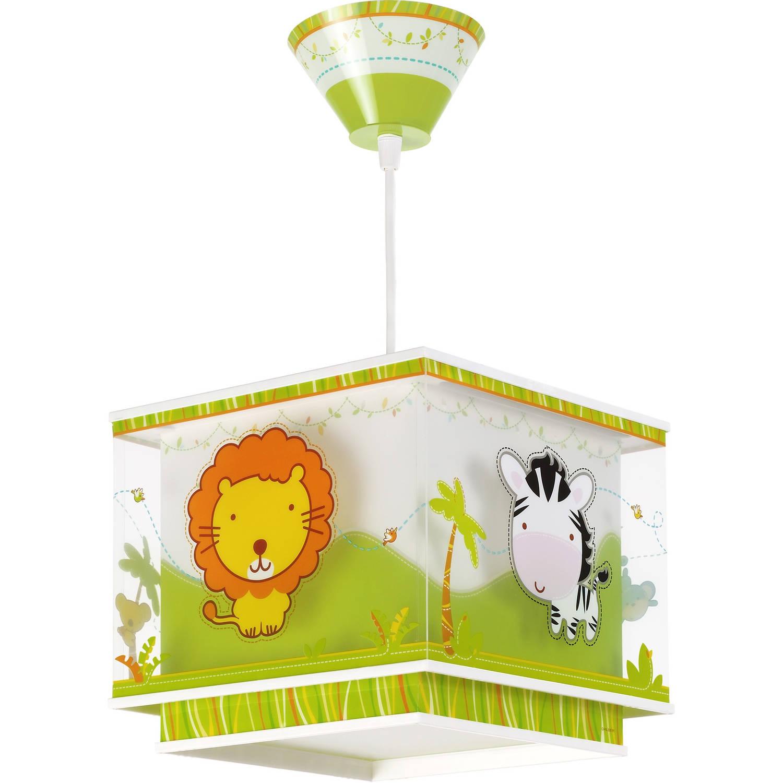 Dalber hanglamp Little Zoo 33 cm wit/groen