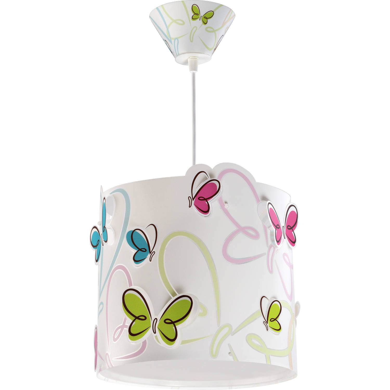 Dalber hanglamp Butterfly 26,5 cm wit
