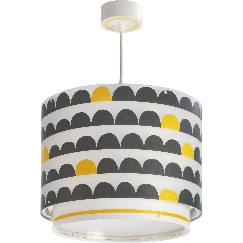 Dalber hanglamp Wonder 26 cm wit/zwart/geel