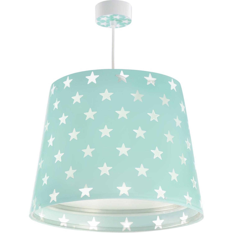 Dalber hanglamp Stars glow in the dark 33 cm turquoise