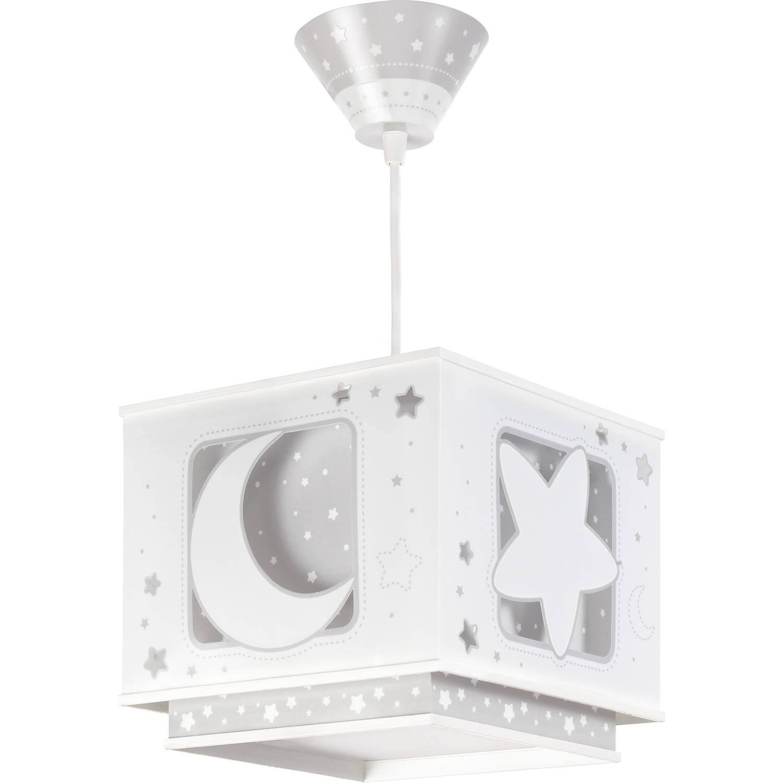 Dalber hanglamp Moonlight glow in the dark 24 cm grijs