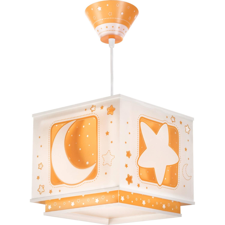 Dalber hanglamp Moonlight glow in the dark 24 cm oranje
