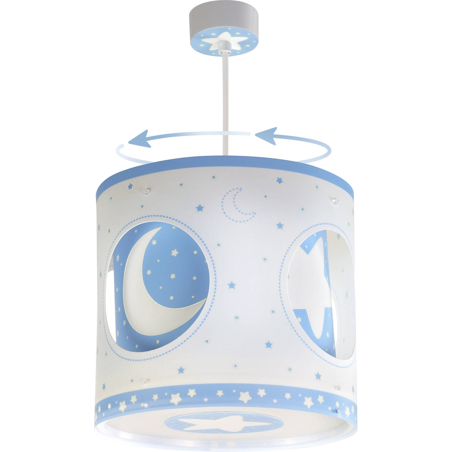 Dalber hanglamp draaiend Moonlight 26,5 cm blauw