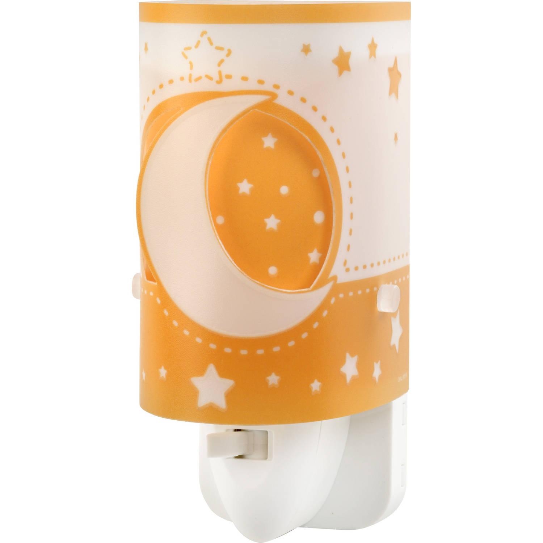 Dalber nachtlamp Moonlight glow in the dark 13 cm oranje