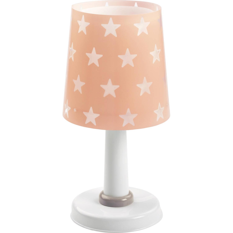 Dalber tafellamp Stars glow in the dark 30 cm roze