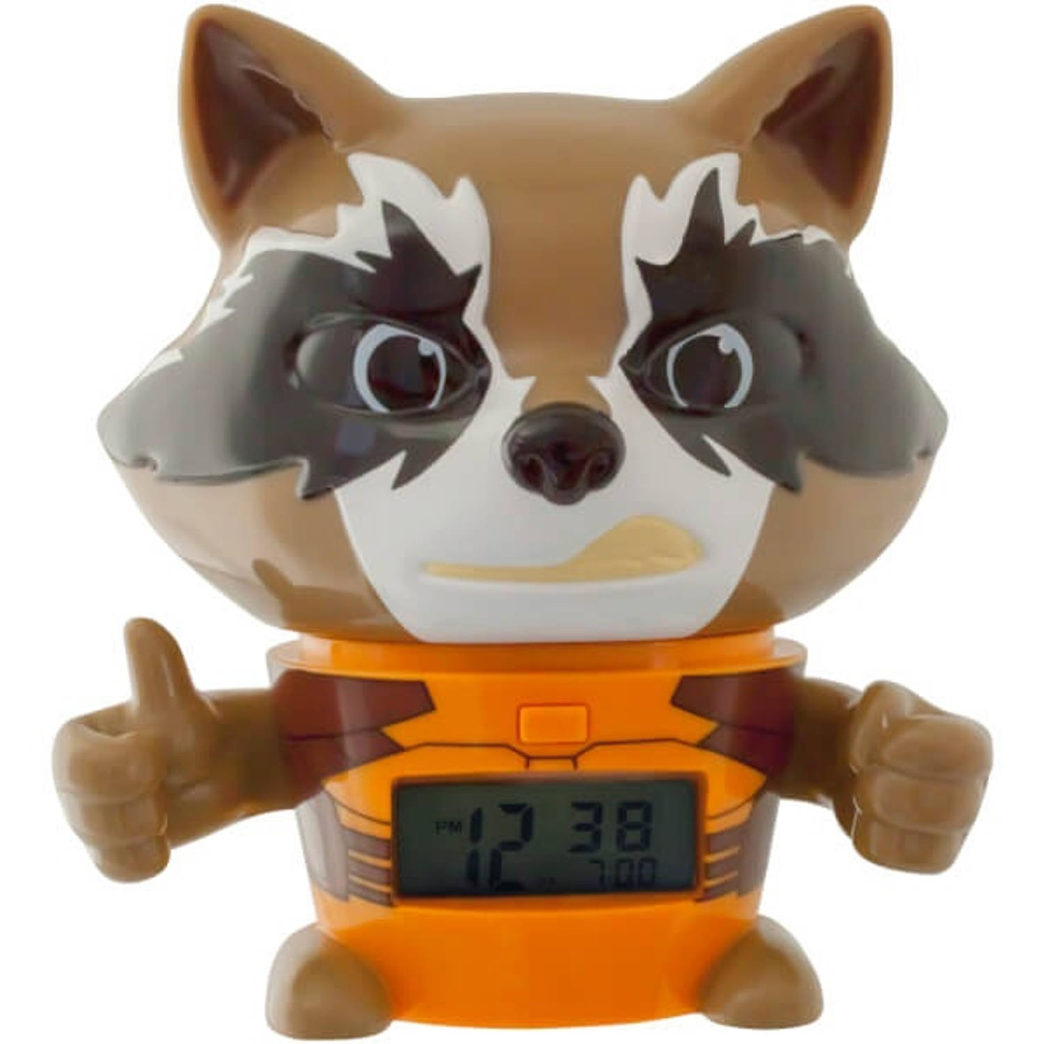 BulbBotz wekker Guardians of the Galaxy Rocket Racoon 14 cm bruin